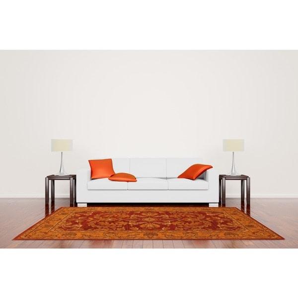 Herat Oriental Indo Hand-tufted Kashan Wool Rug (5' x 8')
