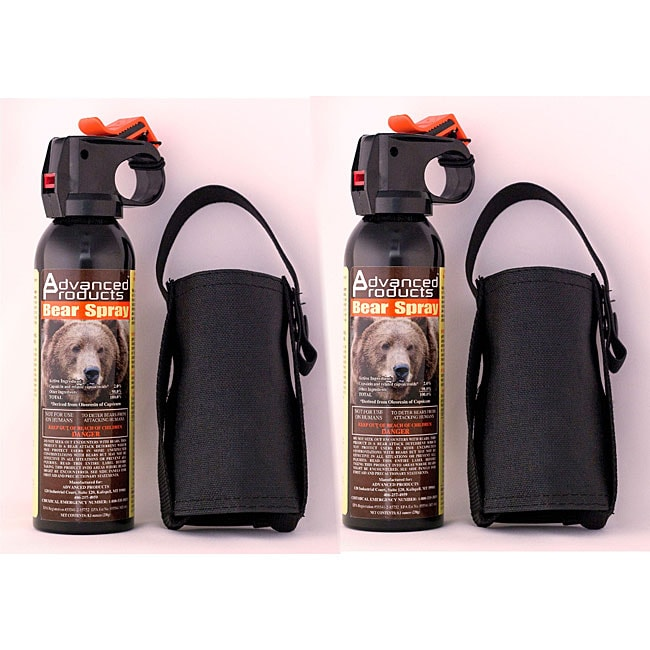 Advanced Products 8.1-oz Bear Deterrent/ Holsters (Pack of 2)