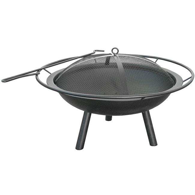 Landmann Halo Steel Fire Pit, Black, Outdoor Décor