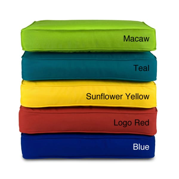 Indoor Outdoor 18 X 12 Chair Cushion With Sunbrella Fabric Solid Bright On Free Shipping Today 4816930