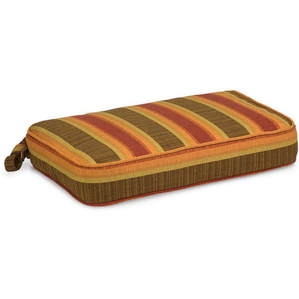 indoor outdoor 18 x 12 striped chair cushion with sunbrella fabric