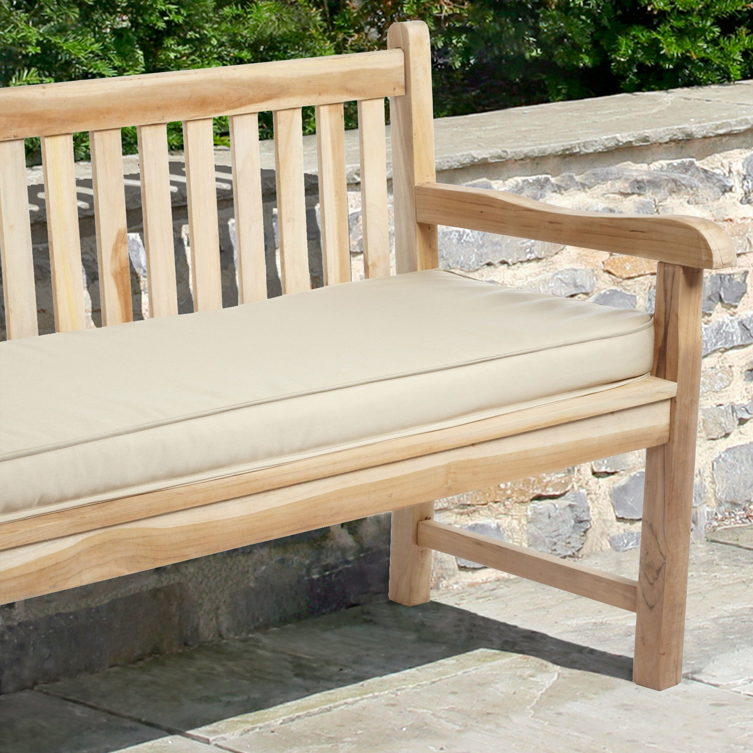 Indoor Outdoor 60 Bench Cushion With Sunbrella Fabric Solid Traditional Overstock 4817008