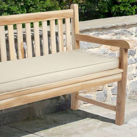 Outdoor Solid 60-inch Sunbrella Fabric Bench Cushion