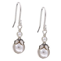 Lola's Jewelry Sterling Silver June Birthstone White Crystal Earrings