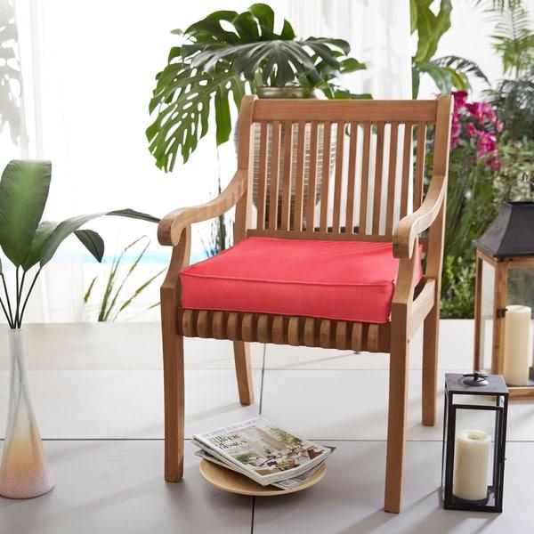 Shop Sunbrella Indoor Outdoor Textured Bright 20 Inch Chair Cushion