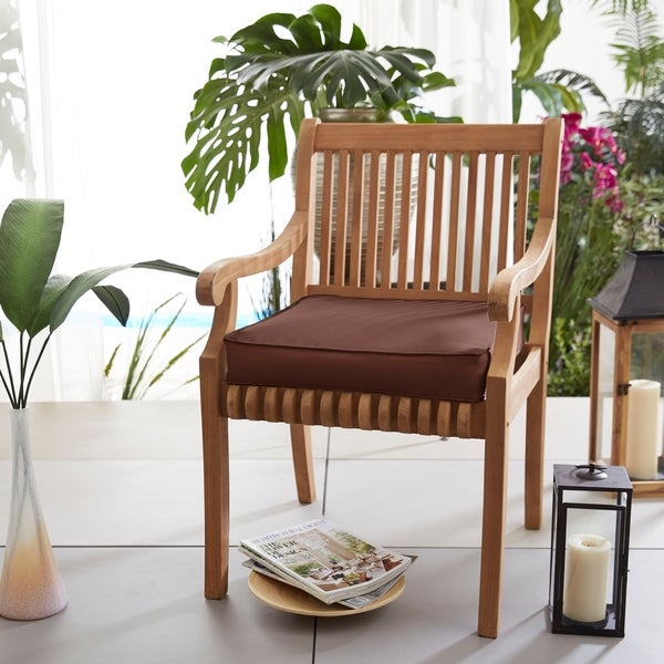 Shop Sunbrella Indoor Outdoor 20 Inch Chair Cushion On Sale