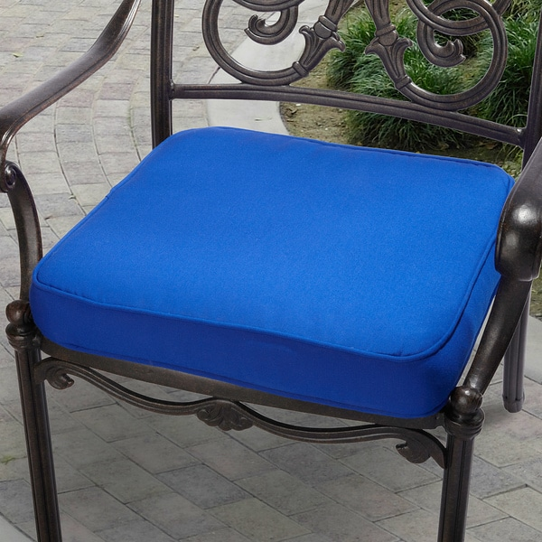 Sunbrella Fabric Patio Furniture.Shop Indoor Outdoor 19 Chair Cushion With Sunbrella Fabric Solid