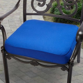 """Indoor/ Outdoor 19"""" Chair Cushion with Sunbrella Fabric Solid Bright"""