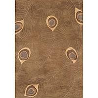 Alliyah Handmade Tobacco Blended Wool Rug (8' x 10') - 8' x 10'