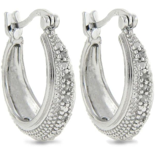 Sterling Silver 1/4ct TDW Diamond Hoop Earrings (J-K, I3)