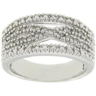 Finesque Sterling Silver 1/4ct TDW Diamond 'X' Design Ring (J-K, I3)|https://ak1.ostkcdn.com/images/products/4817482/4817482/Finesque-Sterling-Silver-1-4ct-TDW-Diamond-X-Design-Ring-J-K-I3-P12710768.jpg?impolicy=medium