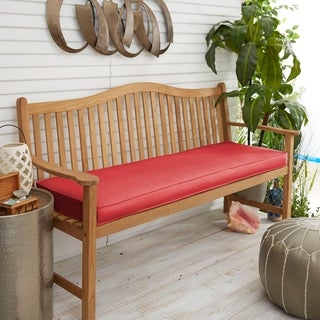 Indoor/ Outdoor Textured Bright 48-inch Bench Cushion with Sunbrella Fabric