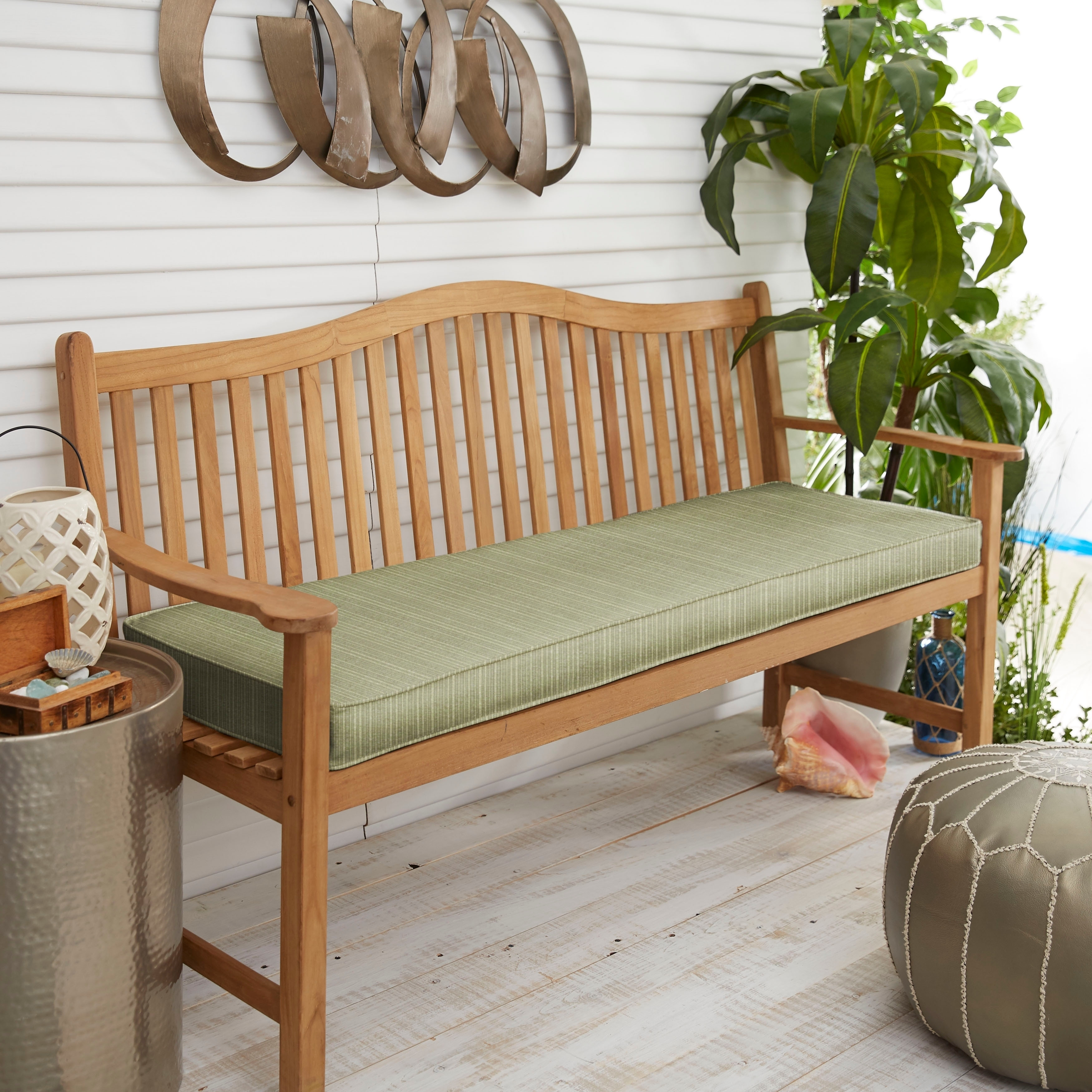 Details About Sunbrella Indoor Outdoor Textured Neutral 48 Inch Bench Cushion