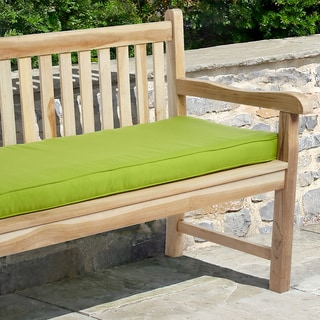 """Indoor/ Outdoor 48"""" Bench Cushion with Sunbrella Fabric Solid Bright"""
