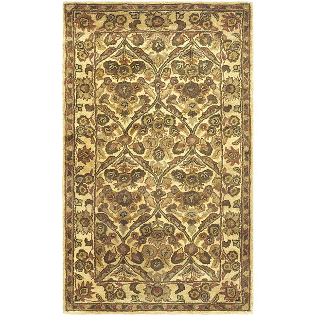 Safavieh Handmade Treasured Gold Wool Rug - 3' x 5'