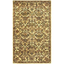 Safavieh Handmade Treasured Gold Wool Rug - 3' x 5' - Thumbnail 0