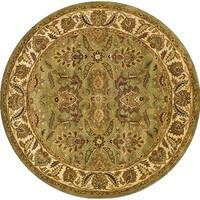 Safavieh Handmade Classic Jaipur Green/ Ivory Wool Rug - 6' x 6' Round