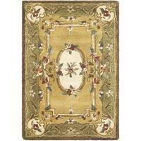 Safavieh Handmade Classic Light Gold/ Green Wool Rug - 2' X 3'
