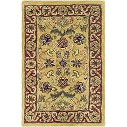 Safavieh Handmade Amol Gold/ Red Wool Rug (2' x 3')