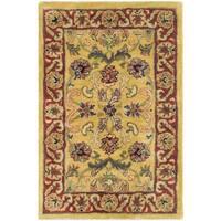 Safavieh Handmade Amol Gold/ Red Wool Rug - 2' X 3'