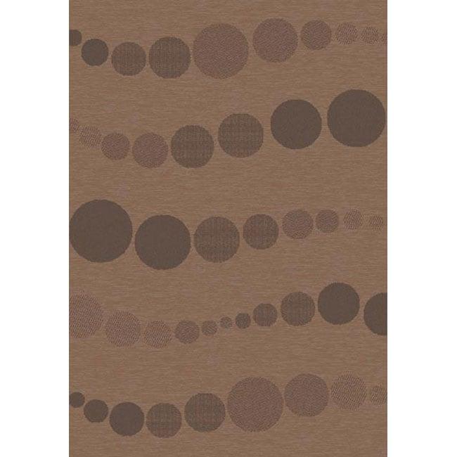 Velvet Flat Weave Brown Rug (2' x 3'7)