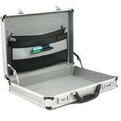 Fasano Aluminum Silver 4-inch-wide Attache Case - Thumbnail 1