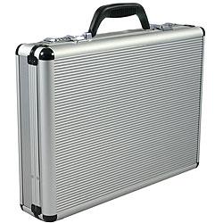 Fasano Aluminum Silver 4-inch-wide Attache Case