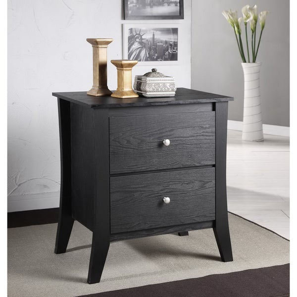Furniture Of America Beatrix Modern 2 Drawer Nightstand 12712422 Shopping