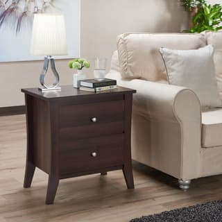 Laurel Creek Edward Modern 2 Drawer Nightstand