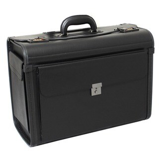 Manchester Deluxe Leatherette Black Catalog Sample Case