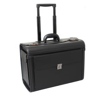 Frankfurt Deluxe Leatherette Black Rolling Catalog Case