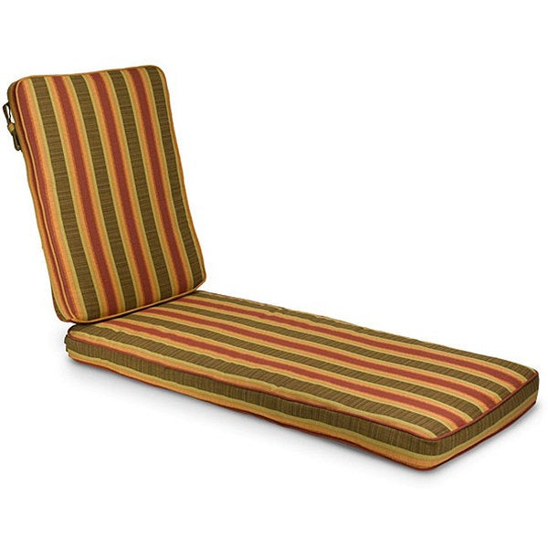 Indoor/ Outdoor 21-inch Wide Striped Chaise Lounge Cushion with Sunbrella Fabric