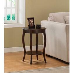 Laurel Creek Walnut 18-inch Round Accent Table