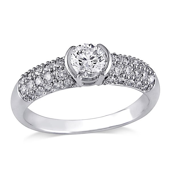 Miadora Signature Collection 14k White Gold 1ct TDW Diamond Ring (H-I, I1-I2)