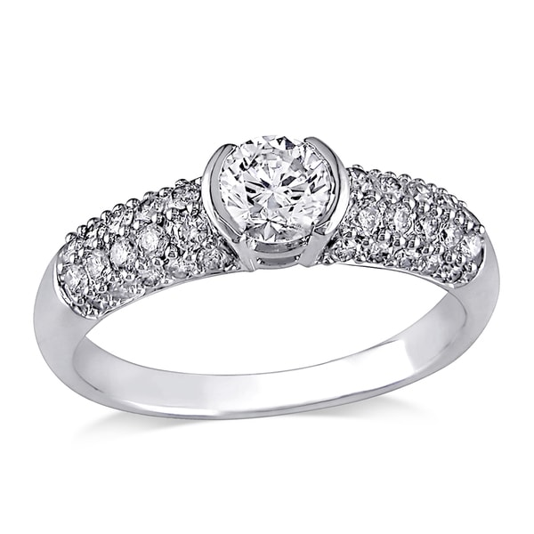 Miadora Signature Collection 14k White Gold 1ct TDW Diamond Ring (H-I, I1-I2)