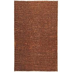 Hand-woven Havana Brown Jute Rug (5'x8')