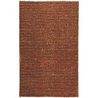 Hand-woven Havana Brown Jute Area Rug (5' x 8')