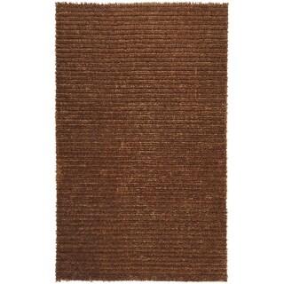 Hand-woven Havana Brown Jute Area Rug - 5' x 8'