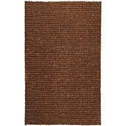 Hand-woven Havana Brown Jute Rug (5' x 8')