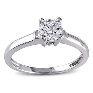 Miadora Signature Collection 14k White Gold 3/4ct TDW Diamond Solitaire Ring