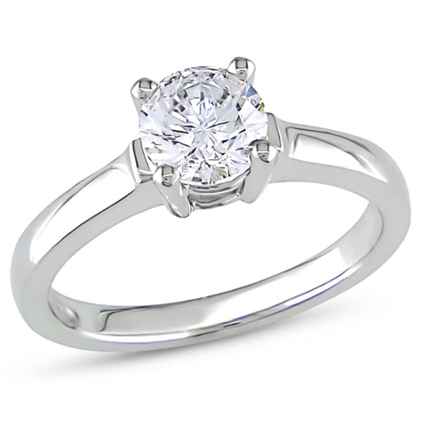 Miadora 14k White Gold 1ct TDW Diamond Solitaire Ring (G-H, I1-I2)