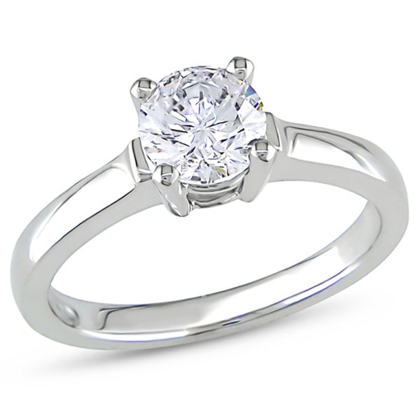 Miadora 14k White Gold 1ct TDW Diamond Solitaire Ring (G-H, I1-I2)