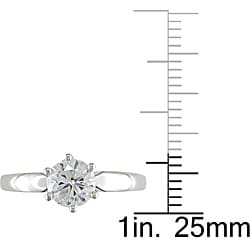 Miadora 14k White Gold 1ct TDW 6-Prong Diamond Solitaire Engagement Ring (H-I, I1-I2) - Thumbnail 2