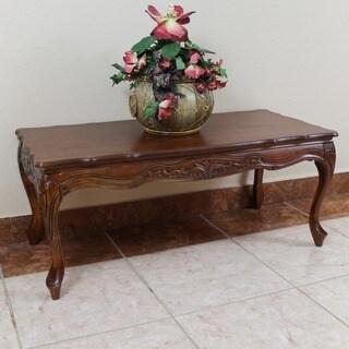 International Caravan Windsor Hand-carved Wood Coffee Table