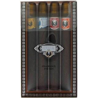 Fragluxe Cuba Gold Men's 1.15-ounce Spray 4-piece Set