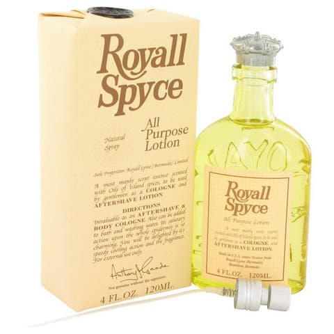 Royall Spyce Men's 4-ounce All-purpose Lotion and Cologne