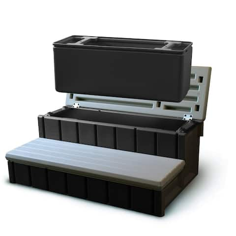 Confer Spa Step with Storage - Gray