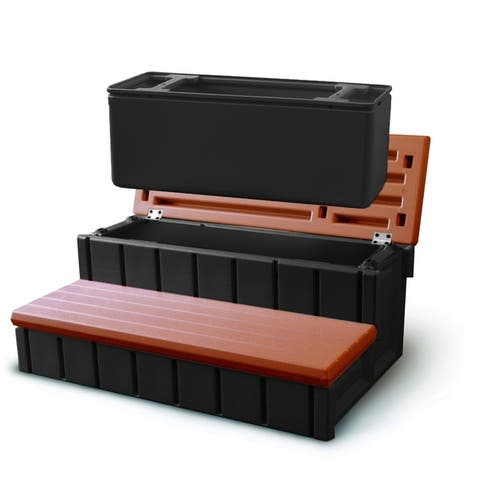 Confer Spa Step with Storage - Redwood