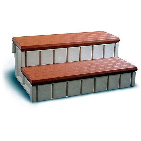 Confer Spa Step w/ Storage - Redwood