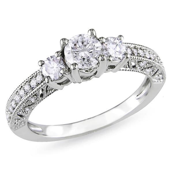 Miadora Signature Collection 14k White Gold 1ct TDW Diamond Engagement Ring (H-I, I2-I3)
